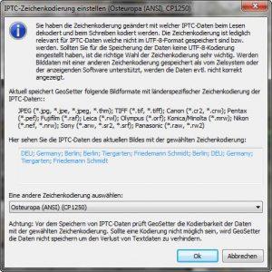 Auswahl IPTC-Kodierung (2)
